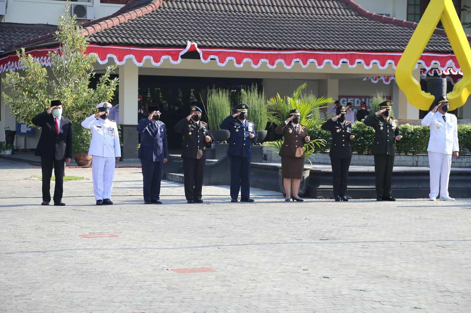 Satuan Radar 215 Congot Ikuti Upacara Peringatan ke-76 HUT Kemerdekaan RI di Kabupaten Kulon Progo, Daerah Istimewa Yogyakarta