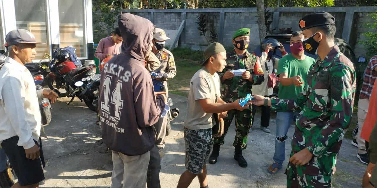 Satrad 215 Congot Ikut Laksanakan Operasi Yustisi Penegakan Prokes dan Sosialisasi Ingub/ Inbup