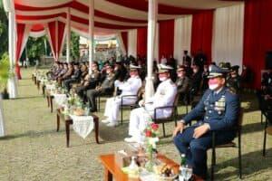 Danlanud Pangeran M. Bun Yamin Hadiri Peringatan Detik-Detik Proklamasi Kemerdekaan RI Ke-76 Di Provinsi Lampung