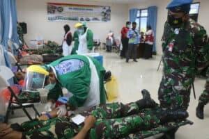 Peduli Covid-19, Lanud Raden Sadjad Bantu Persedian Darah PMI Natuna