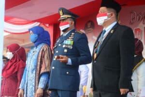 Lanud Raden Sadjad Hadiri Detik-Detik Proklamasi HUT RI ke-76 di Natuna