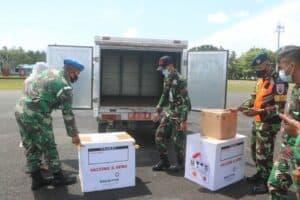 Lanud RSA Dukung Pemkab Natuna Bawa Vaksin Covid 19 Menggunakan Pesawat TNI AU 6