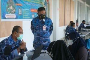 Lanud Raden Sadjad Kembali Gelar Serbuan Vaksinasi Covid 19 di Bandara Raden Sadjad Natuna 1