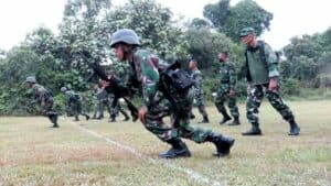 Yonko 462 Paskhas Melaksanakan Latihan Uji Siap Operasi (LUSO) Tahun 2021