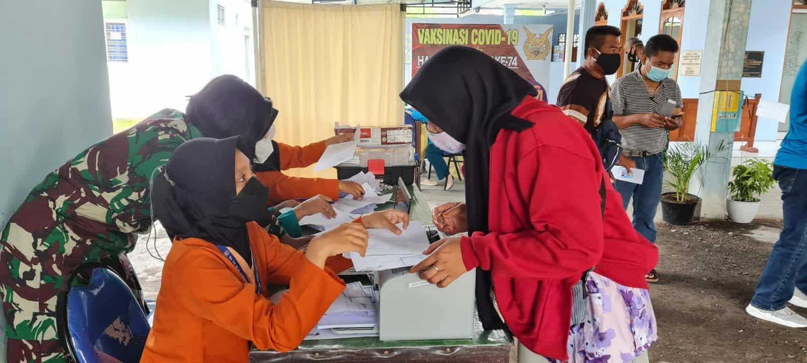 foto serbuan vaksinasi tgl 9 Agustus 2021