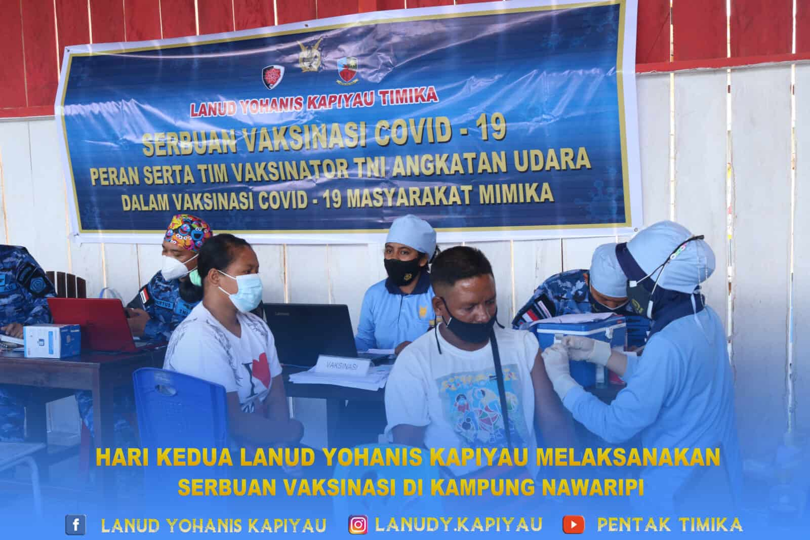 hari kedua vaksinasi di kampung nawaripi