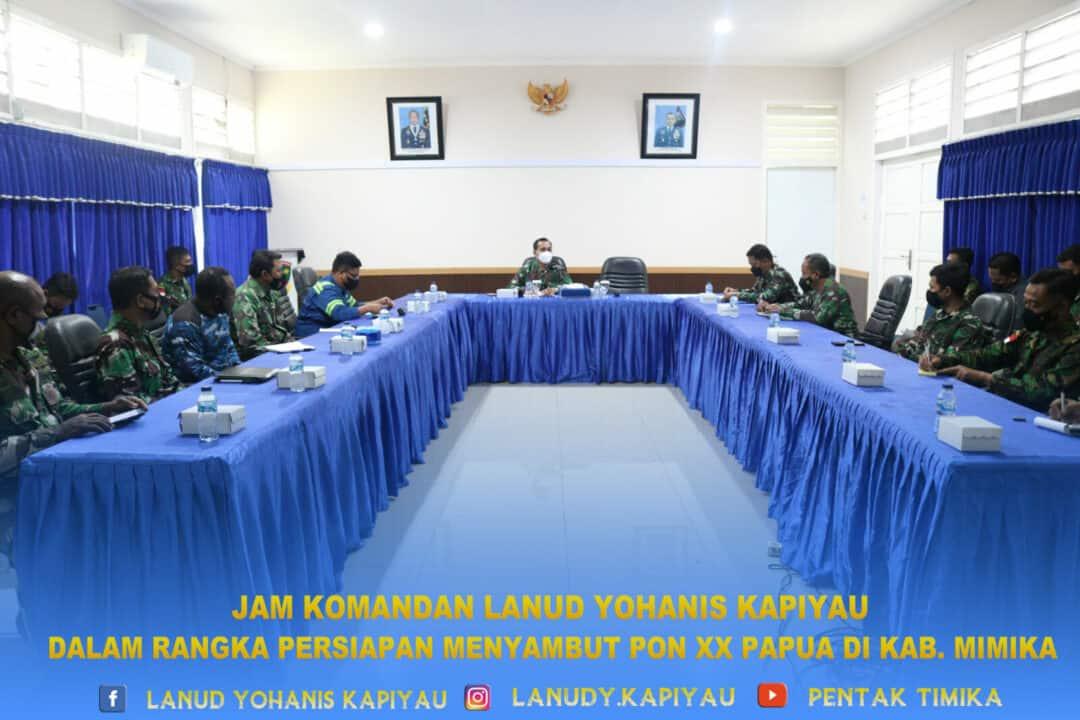jam komandan lanud YKU persiapan PON XX papua