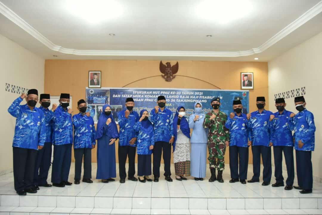 Syukuran HUT PPAU ke-23 tahun 2021 di Lanud Raja Haji Fisabilillah