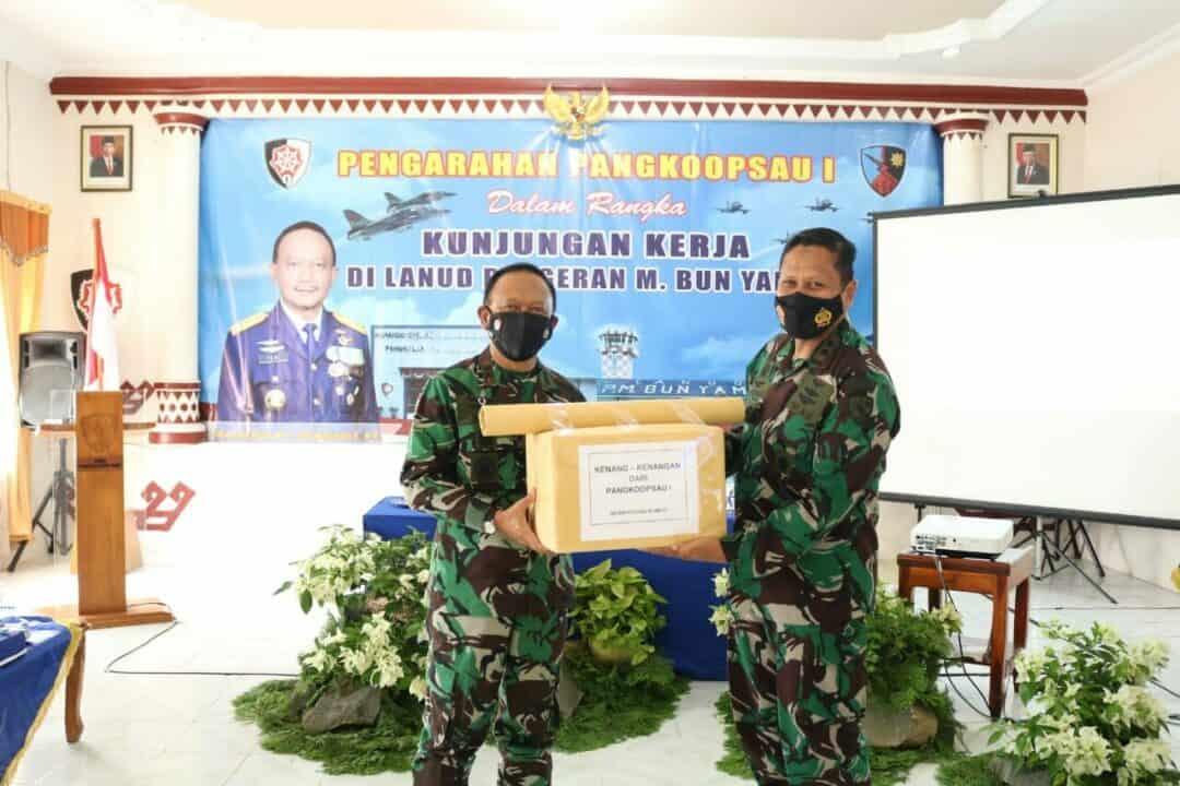 Danlanud Pangeran M. Bun Yamin Sambut Kunjungan Pangkoopsau I