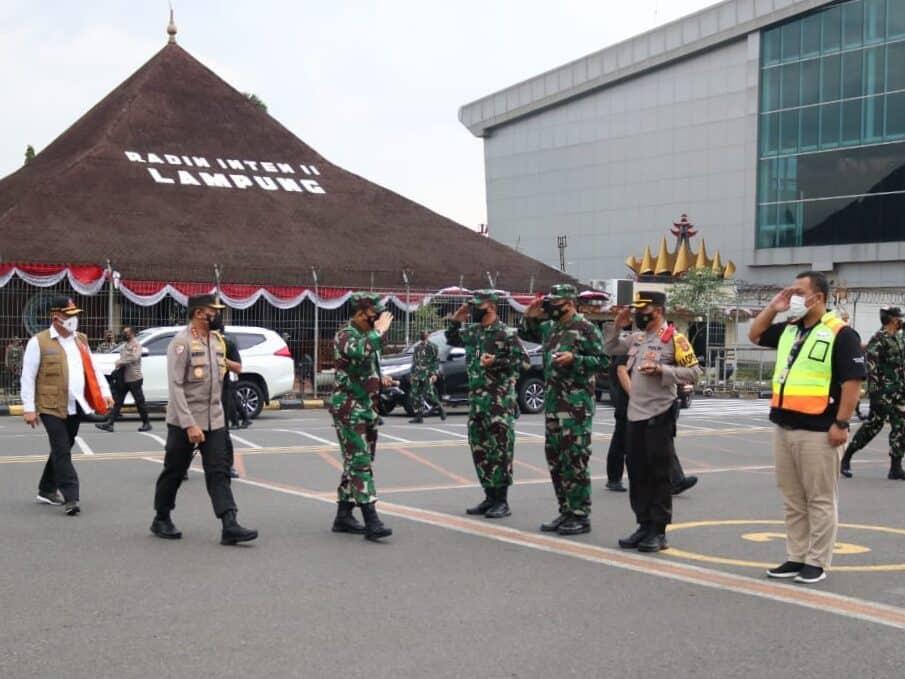Danlanud Pangeran M. Bun Yamin Sambut Kuker Panglima TNI di Provinsi Lampung