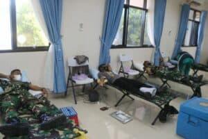 Lanud Raden Sadjad Gelar Baksos Donor Darah Jelang HUT TNI ke 76 1