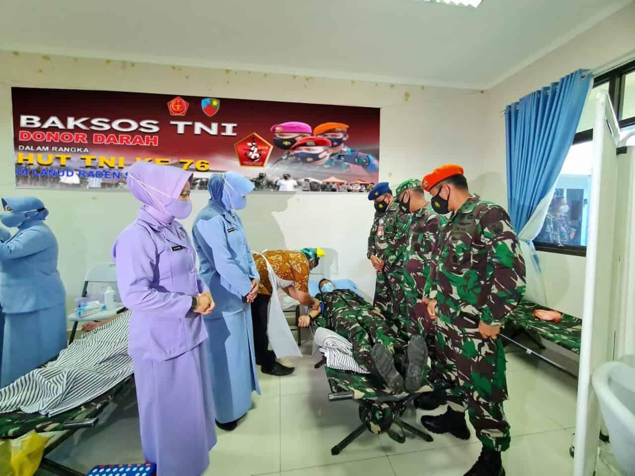 Lanud Raden Sadjad Gelar Baksos Donor Darah Jelang HUT TNI ke 76