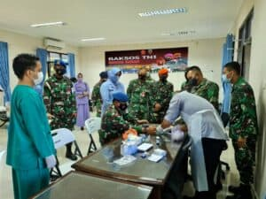 Lanud Raden Sadjad Gelar Baksos Donor Darah Jelang HUT TNI ke 76 6