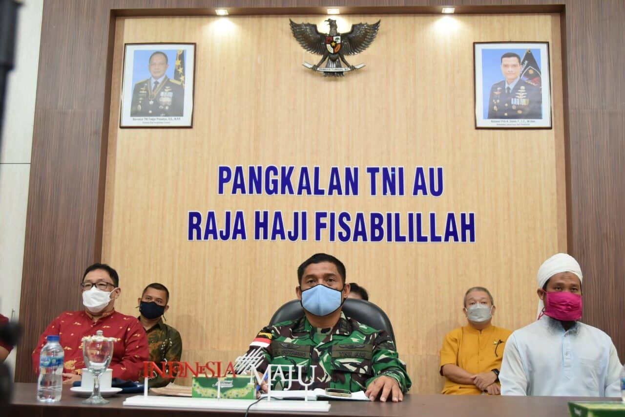 Penanganan Covid-19, Lanud RHF Hadirkan Tokoh Agama Tanjungpinang Ikuti Komsos TNI-Tokoh Agama