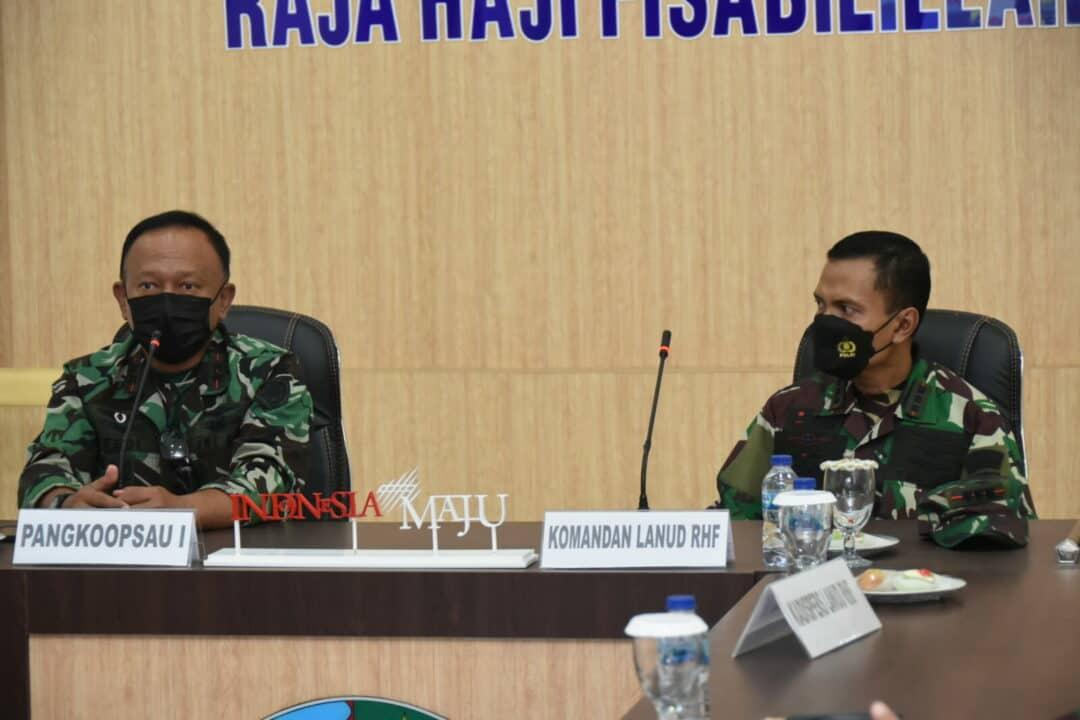 Kunjungan Kerja Panglima Komando Operasi Angkatan Udara I di Lanud Raja Haji Fisabilillah.