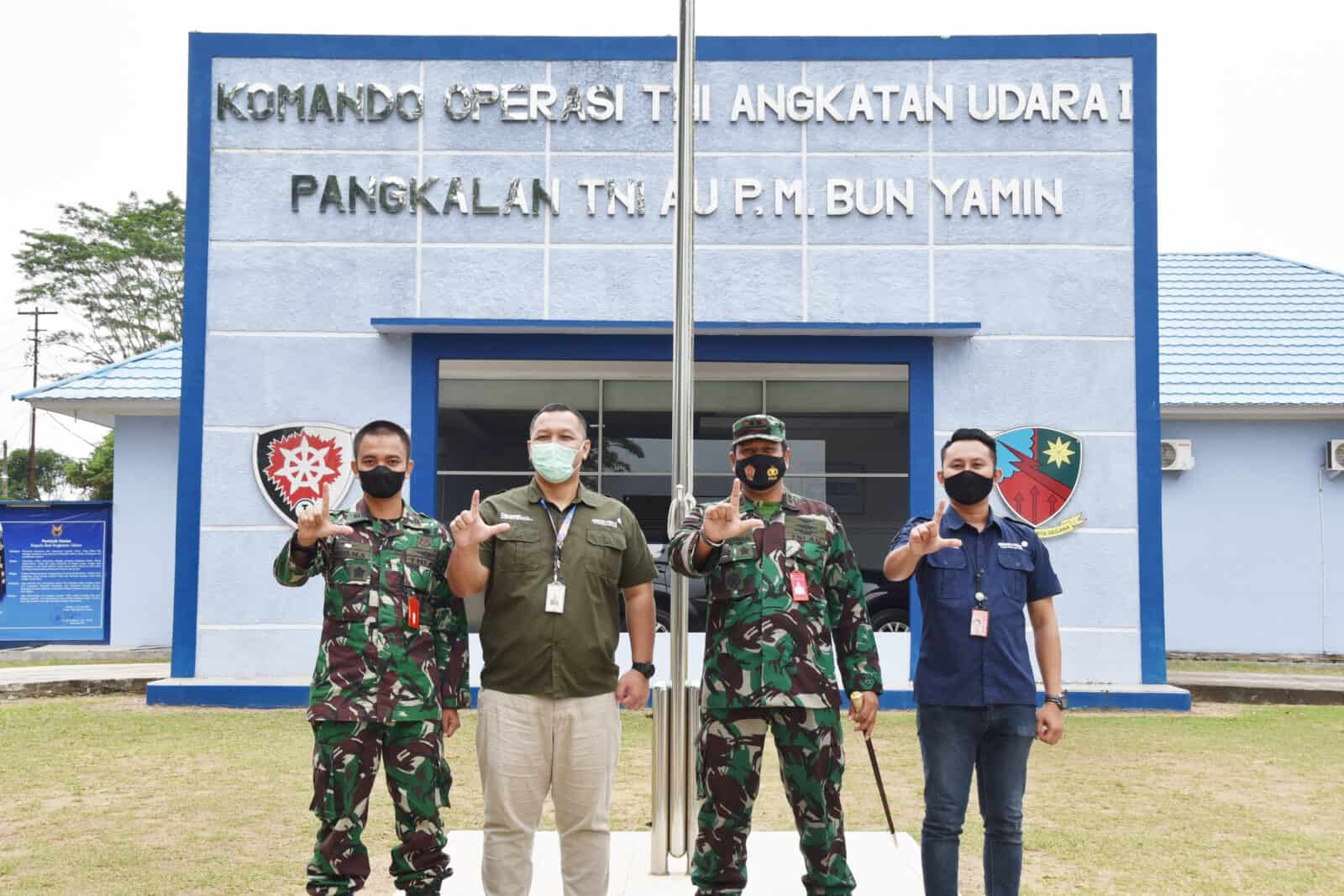 Danlanud Pangeran M. Bun Yamin Terima Kunjungan Kepala Bandara Radin Inten II Lampung