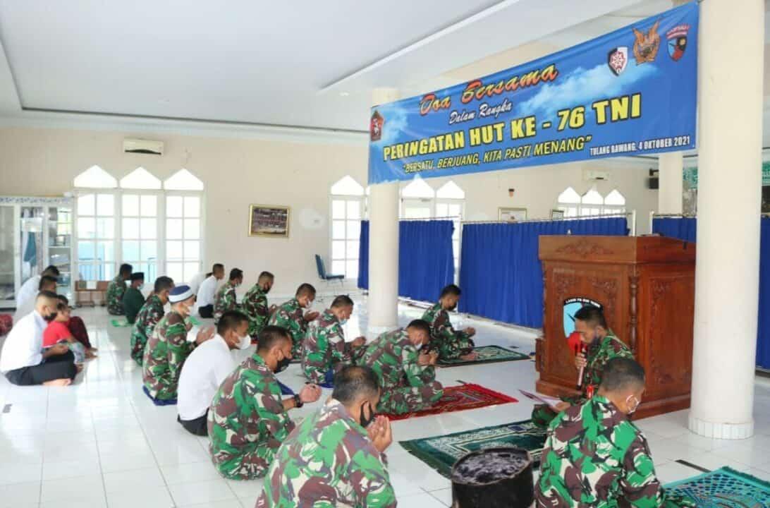 Lanud Pangeran M. Bun Yamin Gelar Doa Bersama Jelang HUT ke-76 TNI
