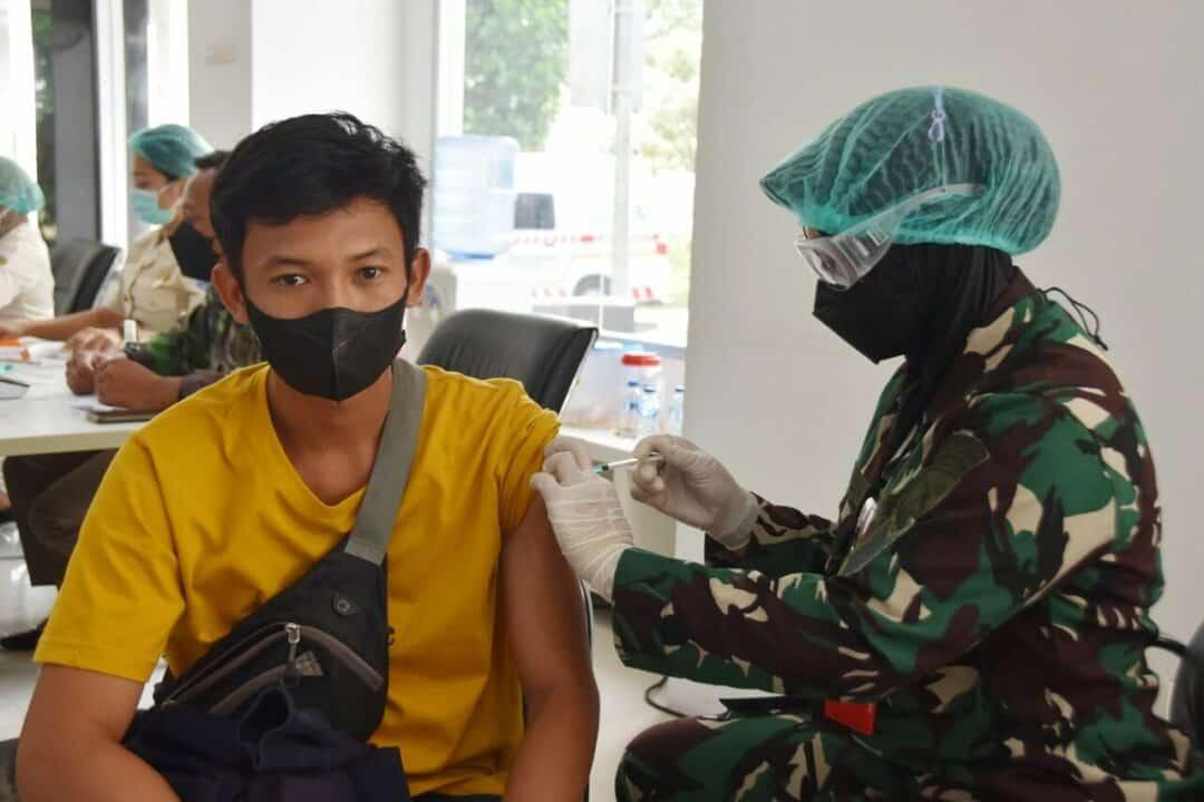 Lanud Pangeran M. Bun Yamin Terus Konsisten Dalam Mendukung Percepatan Penanganan Covid-19 Melalui Vaksinasi