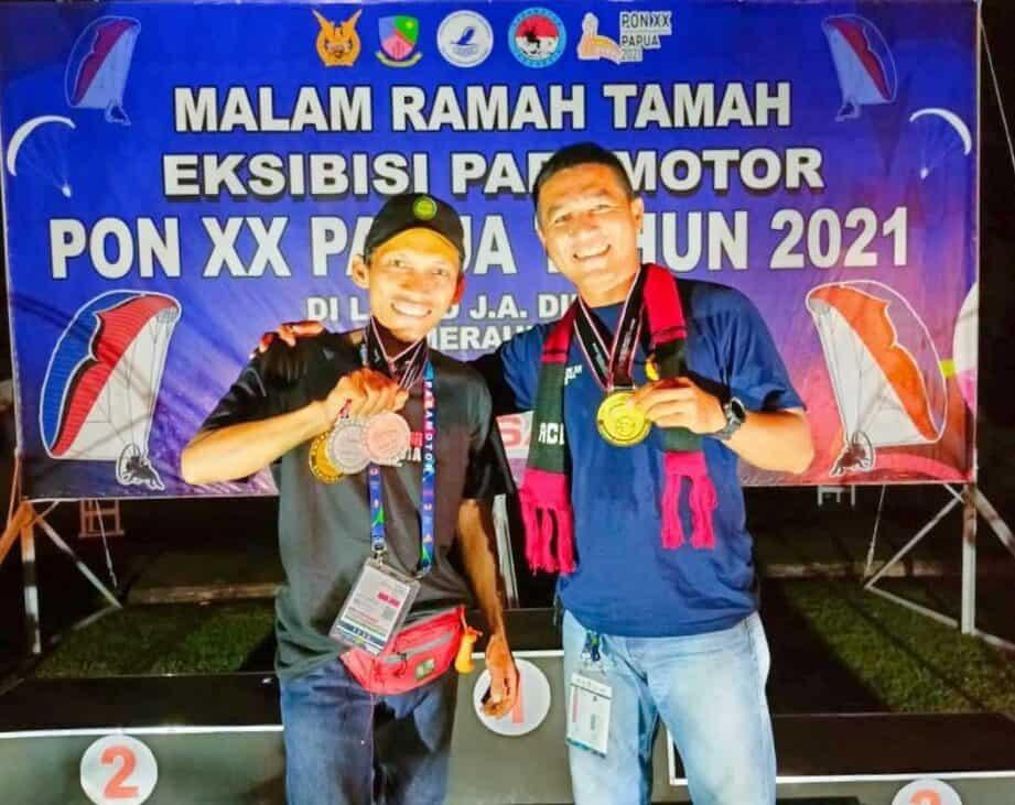 Atlet Paramotor Binaan Lanud Pangeran M. Bun Yamin Berhasil Raih Emas Di Ajang PON XX Papua 2021